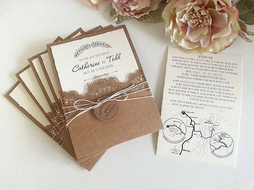 Handmade Rustic Wedding Invitations: Risultati Immagini Per Wedding Invitations Rustic