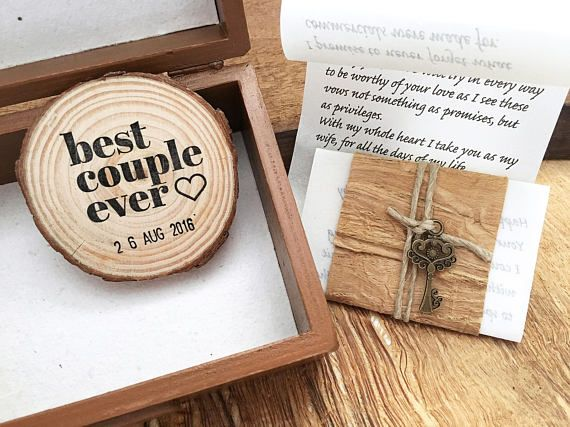 5th Anniversary Gift Wood For Him Or Her One Of A Kind Personalized Card