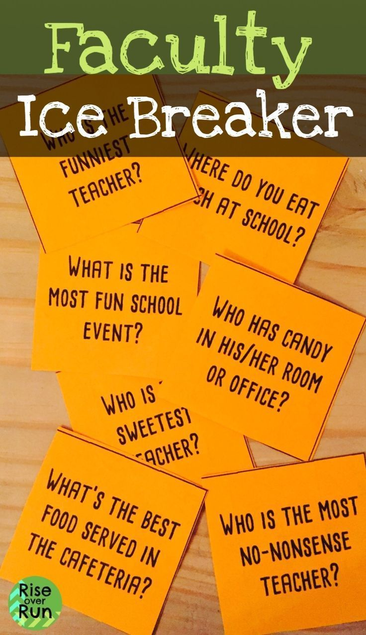 Faculty Ice Breaker Game, Get to Know You Teacher team