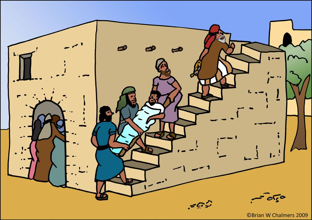 Jesus Heals The Paralytic Man In Sunday School Class We Built This One TooMy Kids Loved It Ja