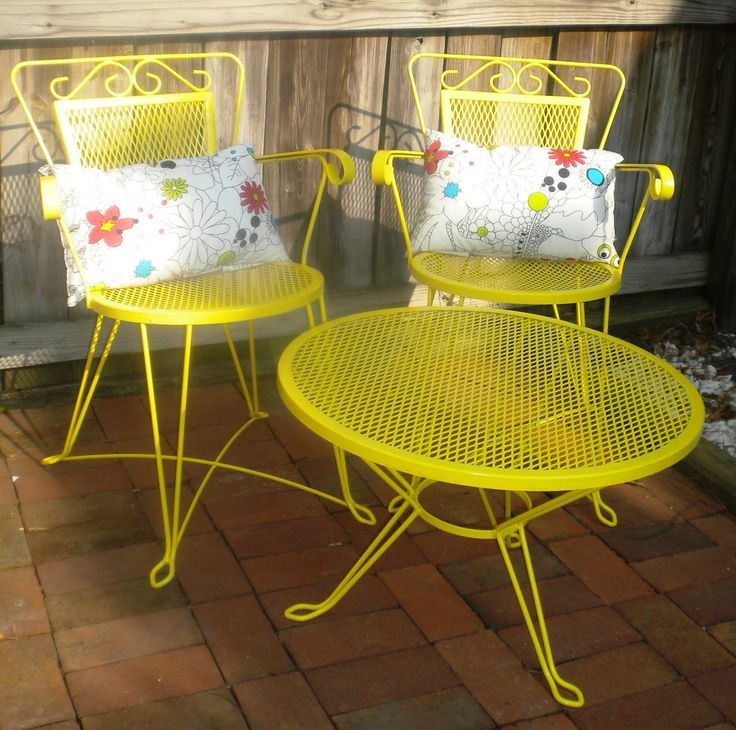 Beau Completely Re Done Patio Set! $40 From Craigslist...Sunshine Yellow Is