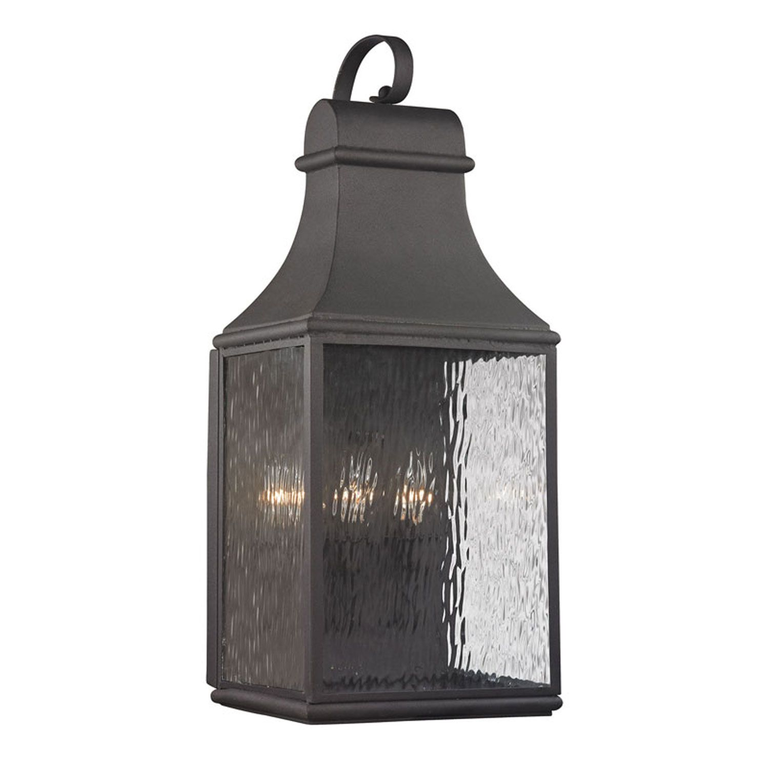Elk lighting forged jefferson charcoal 27 inch three light outdoor elk lighting forged jefferson charcoal 27 inch three light outdoor wall sconce amipublicfo Image collections