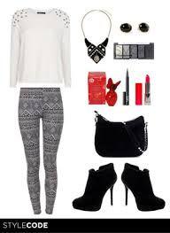 8f21f806c5c5 leggins blanco y negro - Buscar con Google   Moda Black and White ...