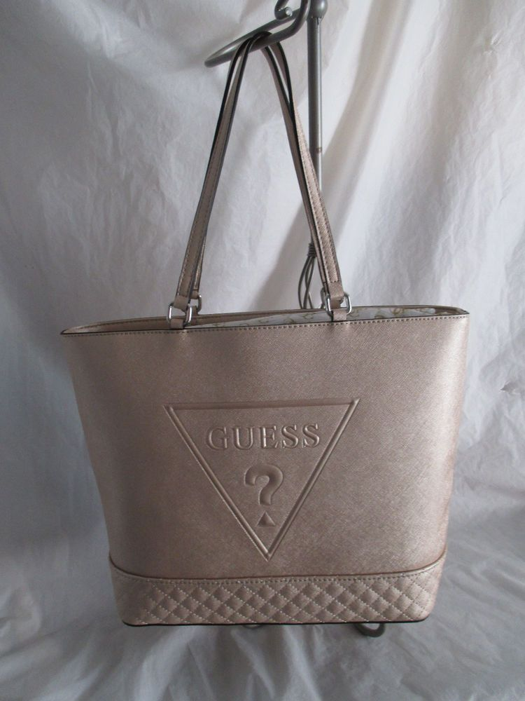 Purse Bag Handbag Guess Tote Color Champagne Style LE637123