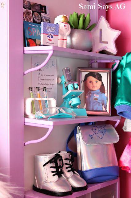 Sami Says AG- American Girl Doll House Bedroom- Luciana Vega- Space Galaxy Room