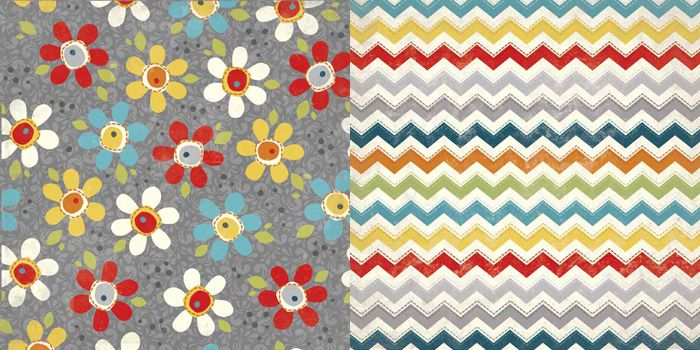 Carolee's Creations - Adornit - Wild Flower Collection - 12 x 12 Double Sided Paper - Pop Daisy at Scrapbook.com $0.99