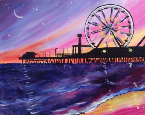 Hey Check Out Santa Monica Pier At K C Branaghan S Paint Nite