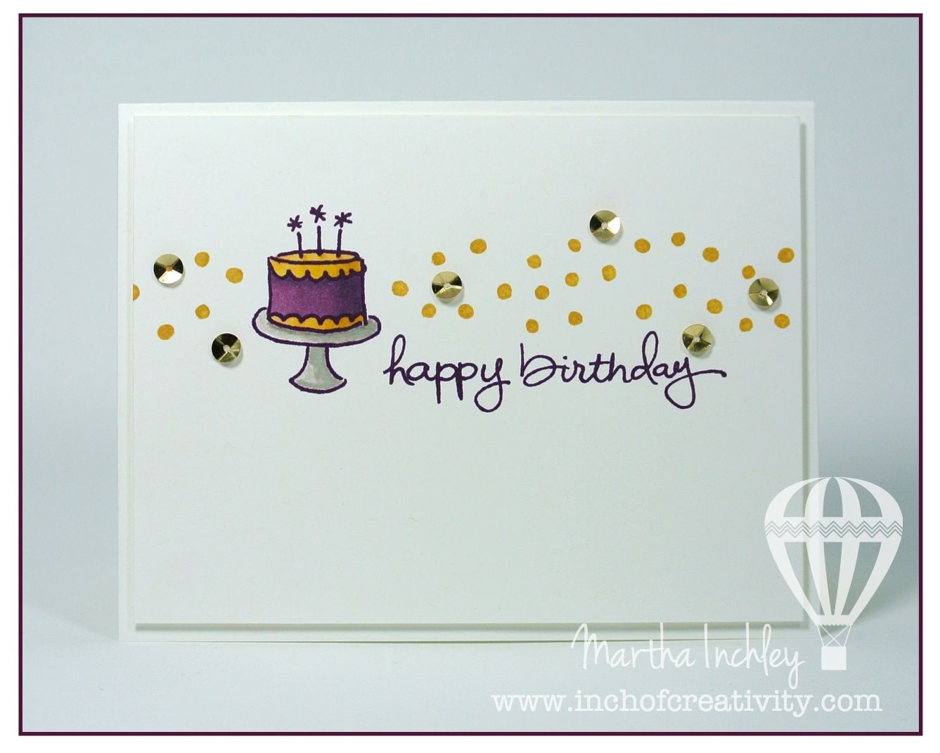 Inch of creativity endless birthday wishes stampinup