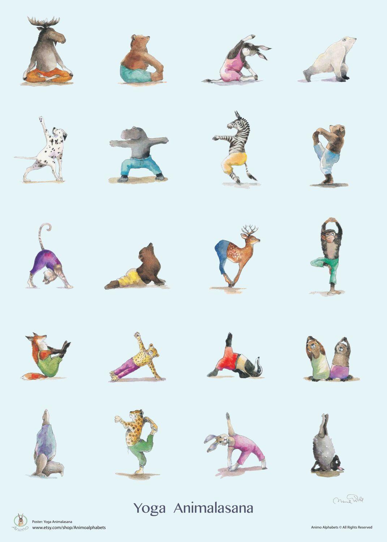 à couper le Souffle  Mot-Clé Yoga Positions Poster