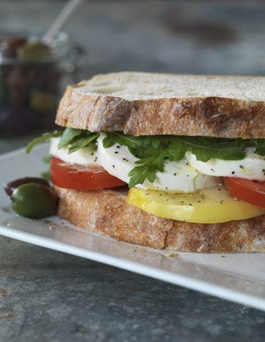 Michael Indresano http://at-edge.com/artist.aspx?AID=599=15 #sandwich #caprese #mozzarella #delicious #atedge #foodphotography