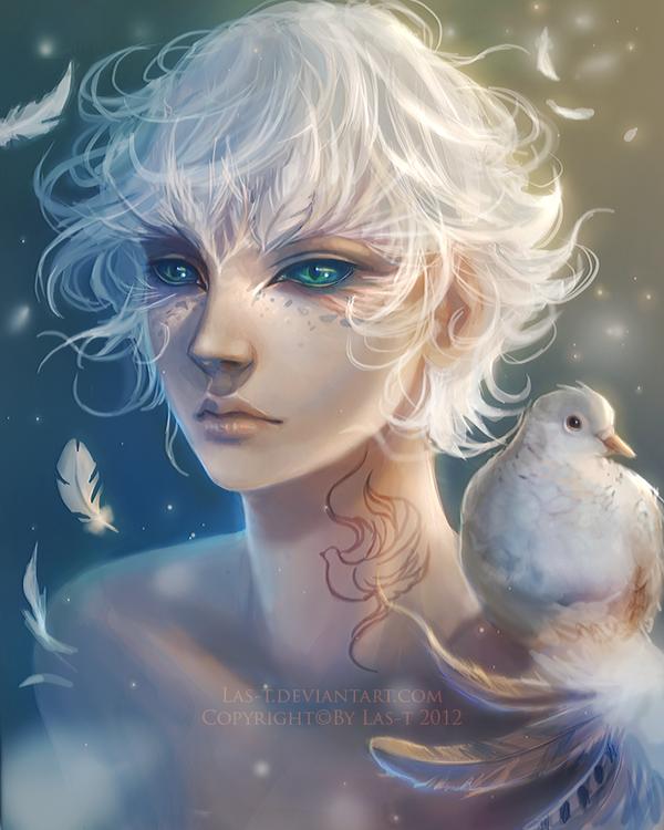 My Demonic Ghost White Feathers Creator By Jacintamaree