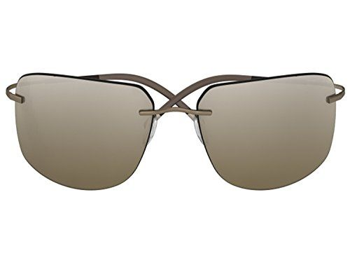 362ac94cdc Silhouette Sunglasses Titan Minimal ART The Icon 8698 medium to large fit (light  smokey brown