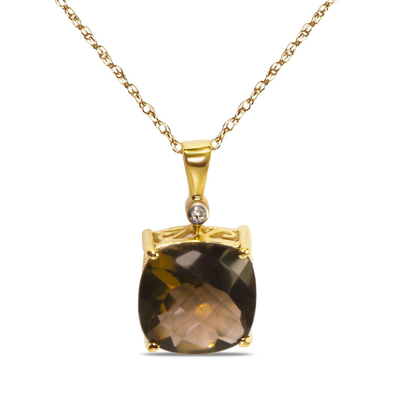 Ebay NissoniJewelry presents - .01CT w/ Smokey Quartz 10k Y/Gold Pendant    Model Number:CP-4998SQK    http://www.ebay.com/itm/01CT-w-Smokey-Quartz-10k-Y-Gold-Pendant-/322048726981
