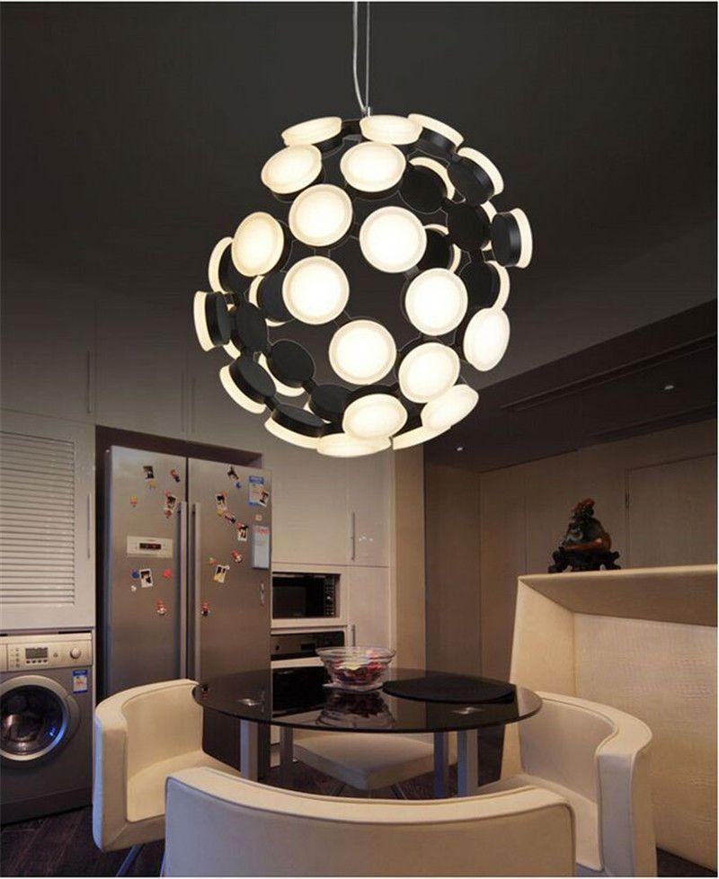 Led Acrylic Pendant Lamp Metal Ceiling Light Dinning Room