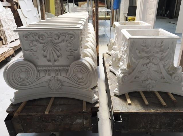 Exterior: Pin On Capitals And Pilasters