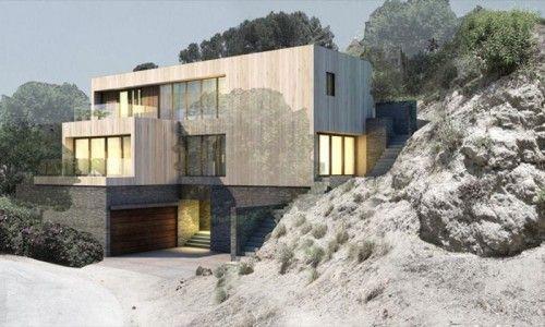 M House in California exterior facade design
