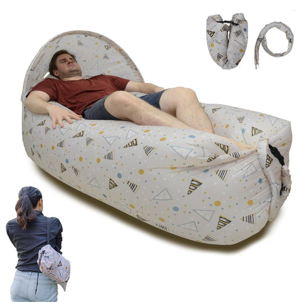 Strange Portable Waterproof Lazy Inflatable Air Sleeping Bag Sofa Alphanode Cool Chair Designs And Ideas Alphanodeonline
