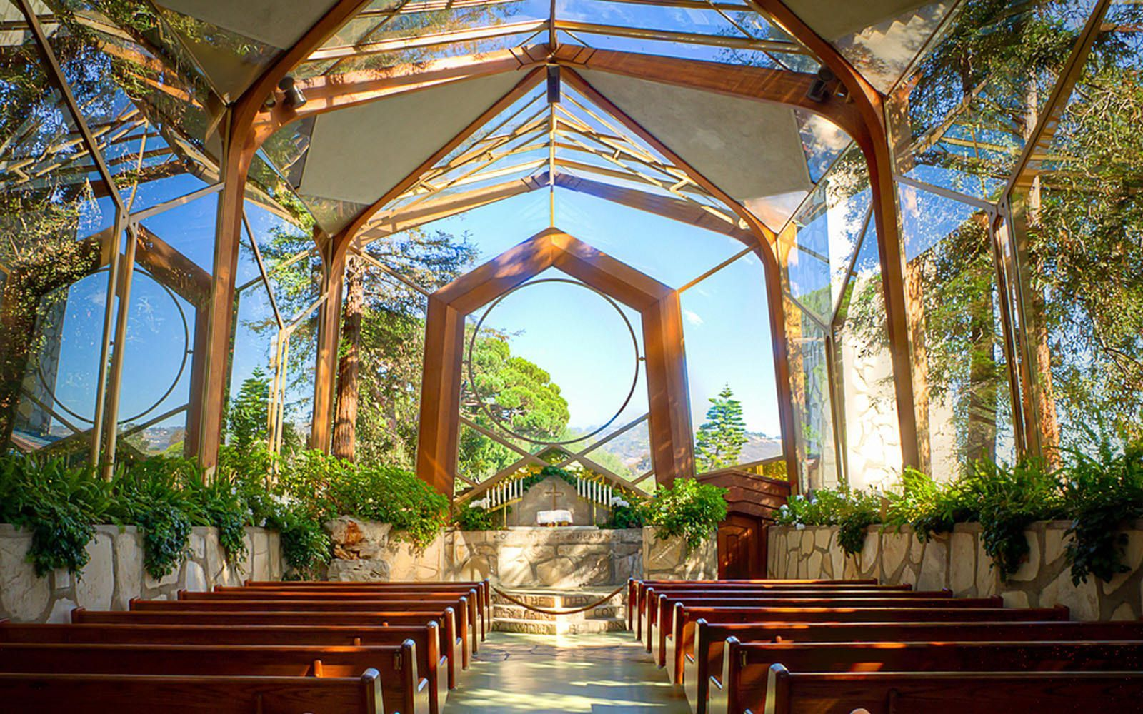 Wayfarers Chapel Best Beach Wedding Locations Los Angeles Area Small Wedding Venue Southern Frank Lloyd Wright Architecture Frank Lloyd Wright Architecture