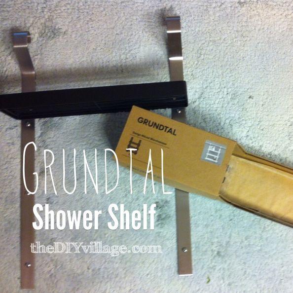 grundtal shower shelf ikea hack, home decor, shelving ideas, GRUNDTAL Shower Shelf