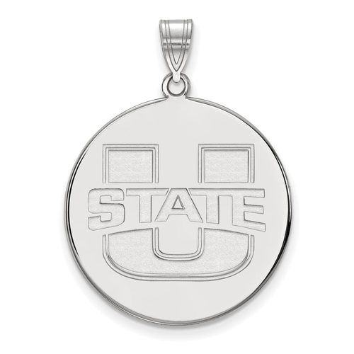 925 Sterling Silver Rhodium-plated Laser-cut University of Tennessee Small Enameled Pendant