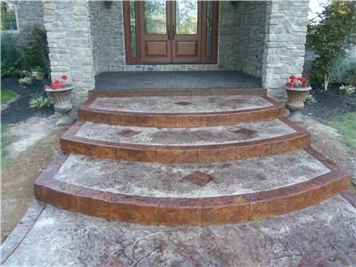 stamped concrete stairs stamped steps walks home