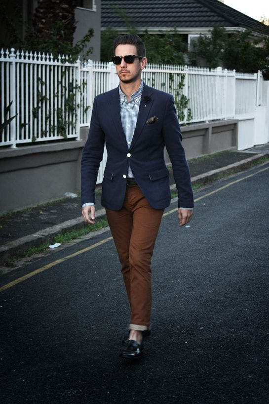 what my boyfriend wore | Blazer outfits men, Chinos men