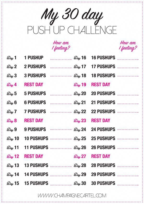 30 day pushup challenge for beginners - Champagne Cartel -   14 fitness For Beginners at home ideas