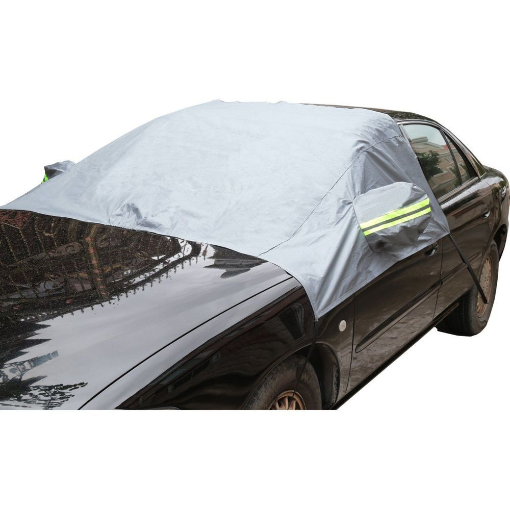 Car Windshield Sun Shade Winter Snow Ice Rain Dust Frost Protector+Mirror Covers