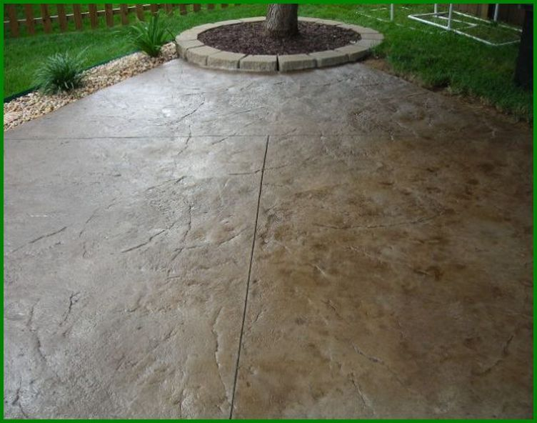 Staining Rough Concrete Patio Patio Ideas Patio Flooring Large Backyard Landscaping Stamped Concrete Patterns