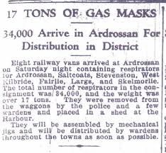 During WW2 the use of gas became a very important tactic to fight with. People began to buy and save gas masks in the event of being gassed. It was a must for any soldier that had hopes of surviving an attack. This is a picture of a newspaper saying that a shipment of 34,000 masks had just arrived.