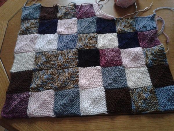 Woll Decke Restedecke | Patchworkdecke Stricken, Stricken Wollreste