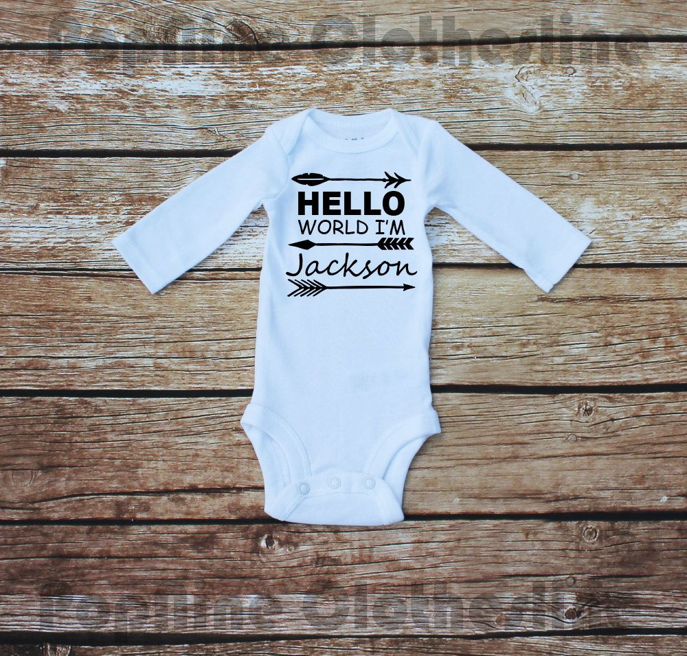 Hello World I'm by PopNineClothesline on Etsy