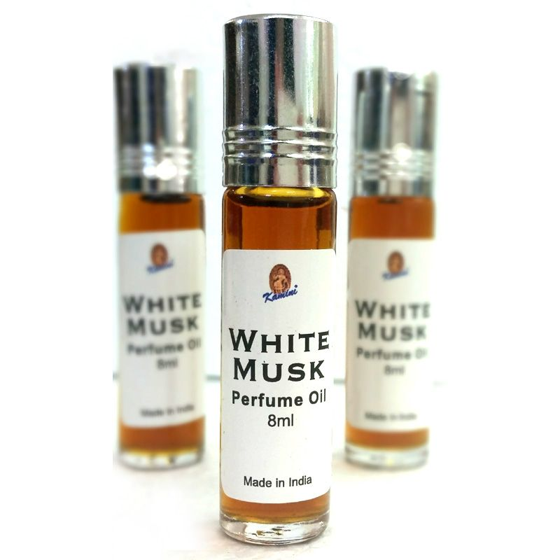 Kamini Roll On Perfume Oil White Musk 8ml Bottle Made From High Grade Ingredients And Pure Oils Chemical Free M Perfume Oils Natural Perfume Musk Perfume