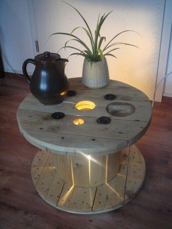 Des Idees Recup Pour Fabriquer Une Table Basse Soi Meme Table Basse Touret Fabriquer Une Table Basse Deco Recup