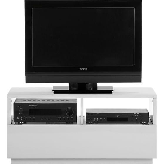 chill white mini media console | Consoles, Scandi style and Small ...