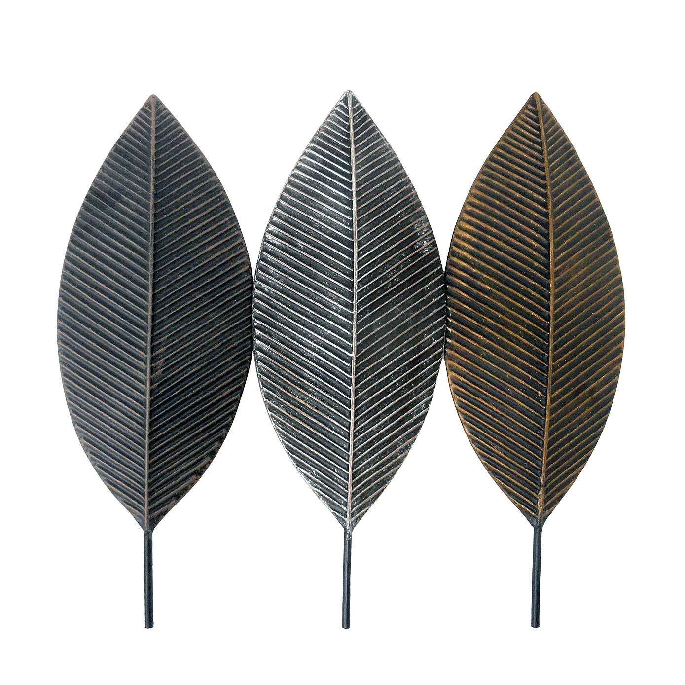 Three Leaves Metal Wall Art | Dunelm  sc 1 st  Pinterest & Three Leaves Metal Wall Art | Dunelm | Hallway | Pinterest