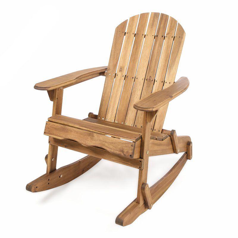 Stamm Solid Wood Rocking Adirondack Chair Joss Main Outdoor Rocking Chairs Adirondack Rocking Chair Rocking Chair
