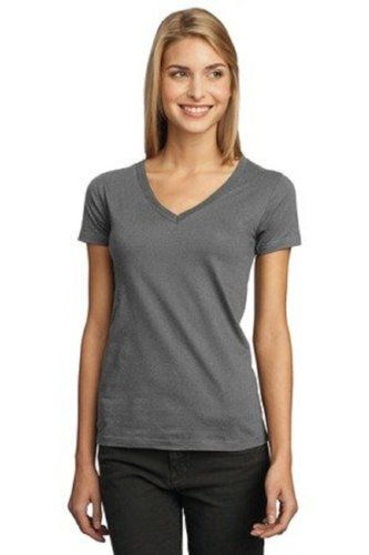 aad9f41d869 District Threads Junior Ladies Perfect Weight V-Neck Tee