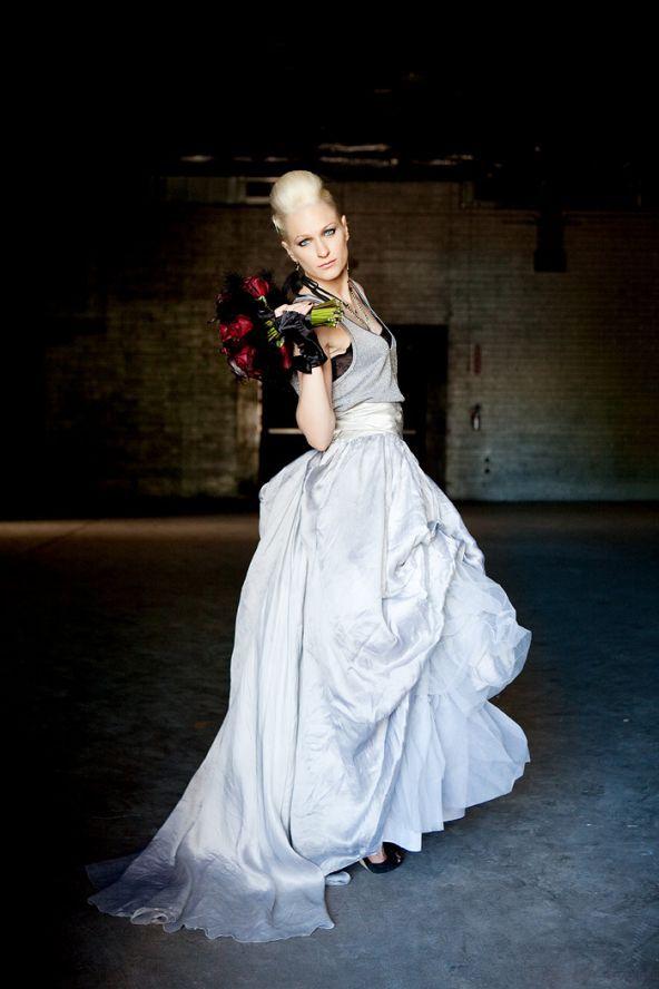 rocker bride / rock n roll wedding / black leather | Theme Wedding ...
