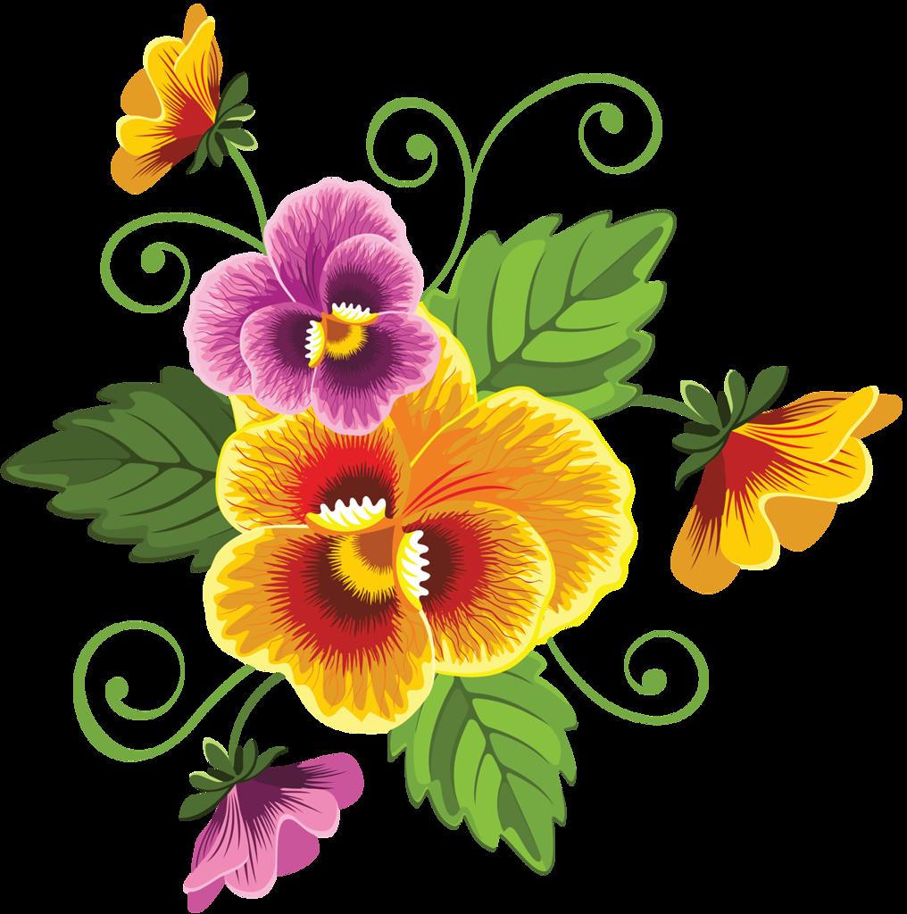 yandeks fotki folklorik desenler pinterest vintage clip art rh pinterest com pansy flower free clipart