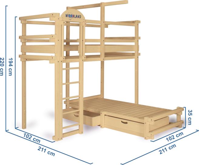 Letto a castello dimensioni | מיטת ילדים | Pinterest | Idee