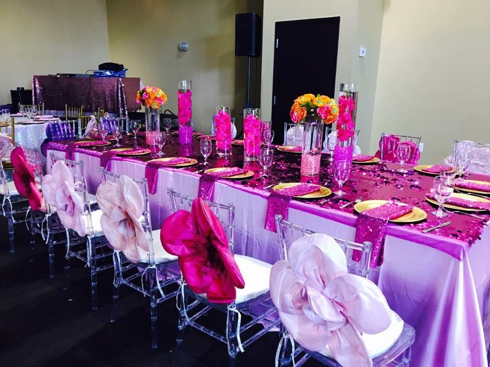 Vibrant shades of pink are the perfect table setting for a fabulous Sweet 16! # & Vibrant shades of pink are the perfect table setting for a fabulous ...