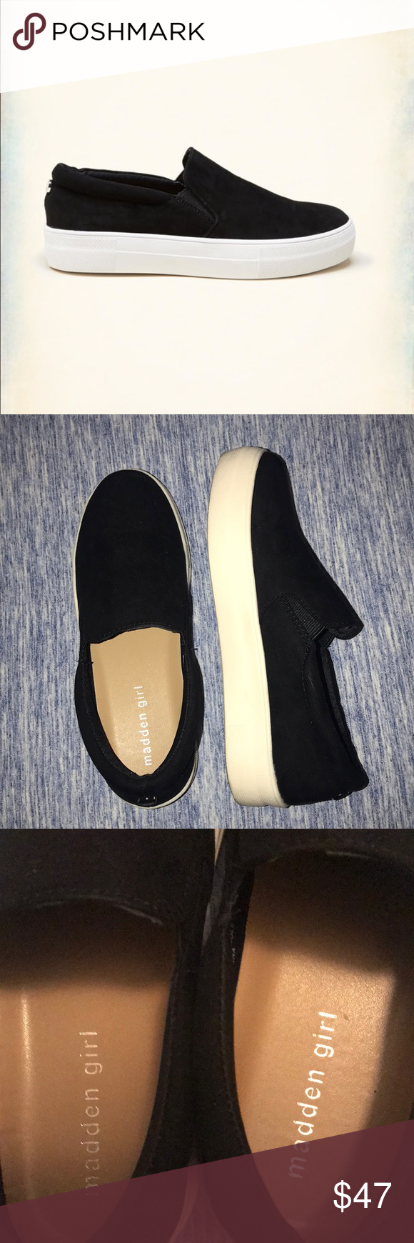 ed19fd388e6 Madden Girl Platform Sneakers Only worn once. Great condition. Madden Girl  Shoes Flats   Loafers