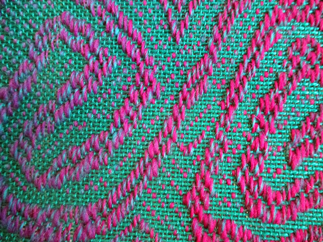 """I've had questions on exactly how I am making my freeform overshot mermaid scarf from people who belong to the Facebook Rigid Heddle Weaving group such as, """"do you use your pickup stick (in the..."""