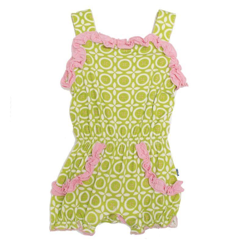 Natural Poinsettia Kickee Pants Toddler Girls Ruffle Footie Pajama Newborn