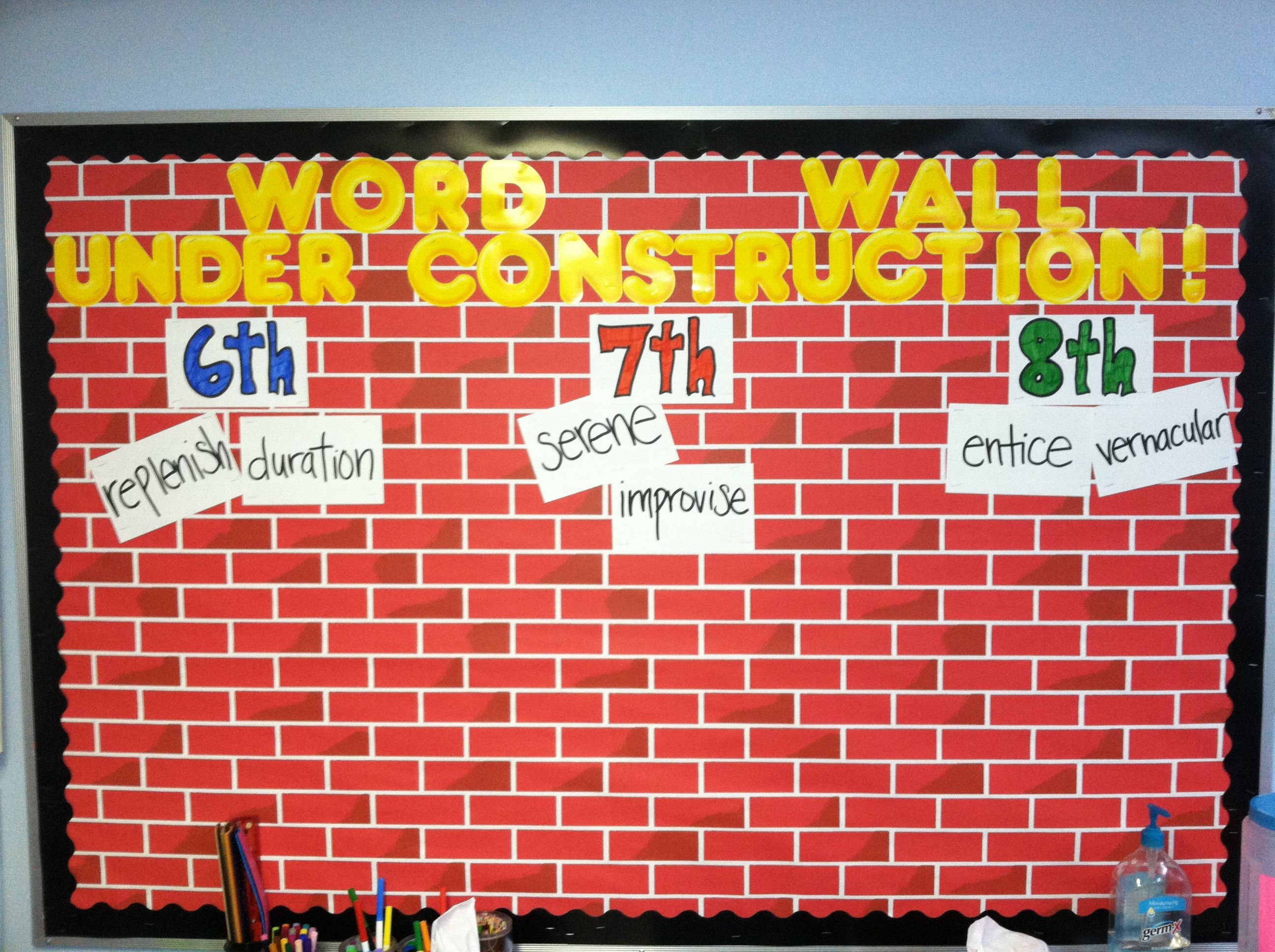 Word Wall For My Middle School Language Arts Students