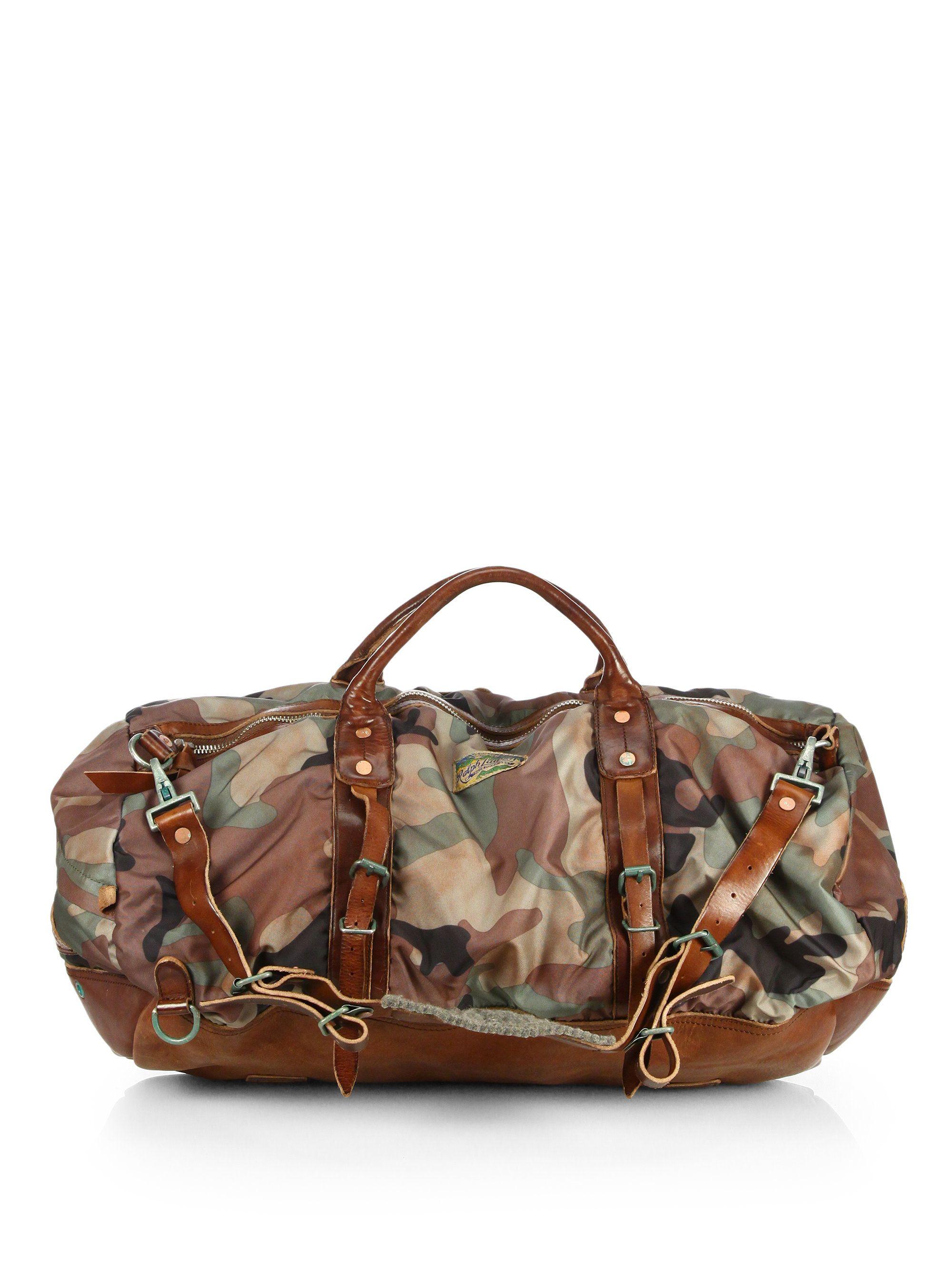 Polo ralph lauren Yosemite Nylon Duffel Bag in Green for Men ... 0656a86068