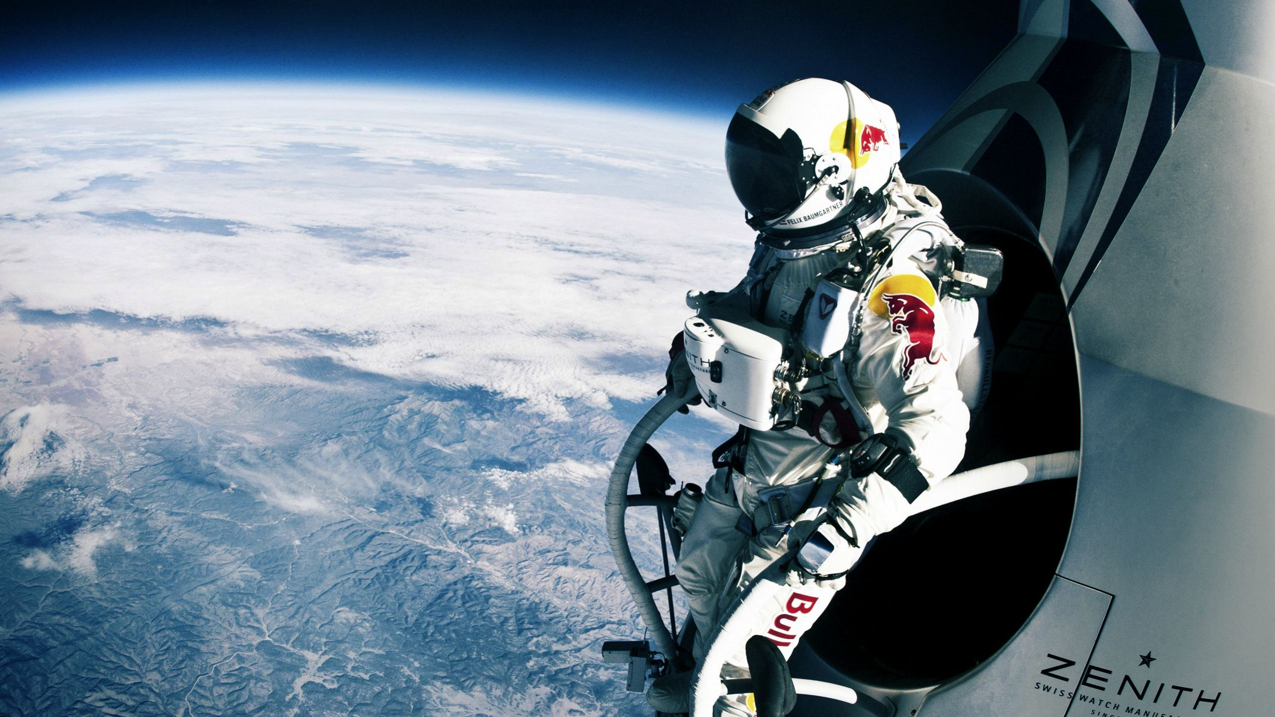 Felix Baumgartner Moments Before His Epic 39 Kilometre Skydive