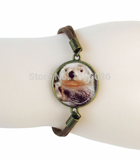 >> Click to Buy << Glass photo animal charm bracelet Guinea pigs bangle antique bronze suede leather bracelets for women men handmade accessories #Affiliate