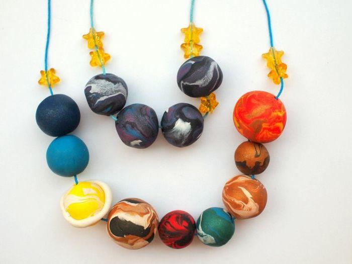 Manualidades originales el sistema solar en collar - Manualidades originales y faciles ...